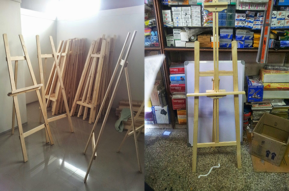 Tripod Wooden Stands